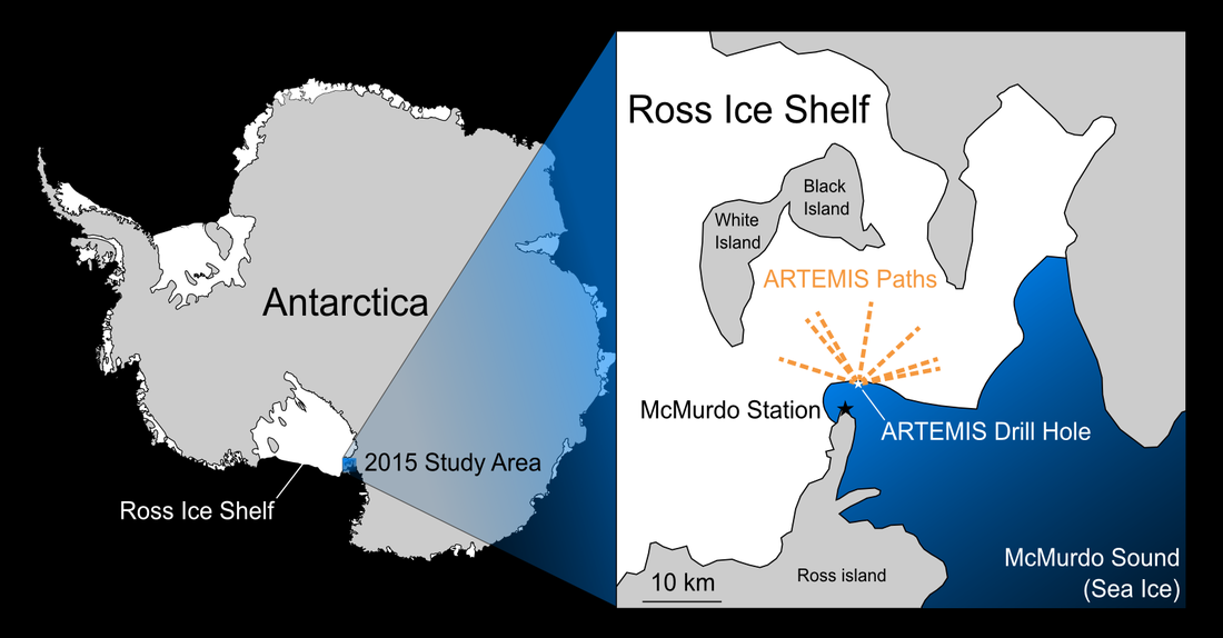 Map of ARTEMIS deployment area in McMurdo Sound